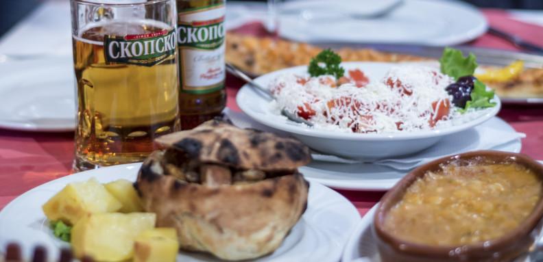 hrana i skopsko pivo