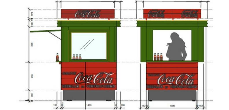 koncept za coca-cola kiosk vo amsterdam