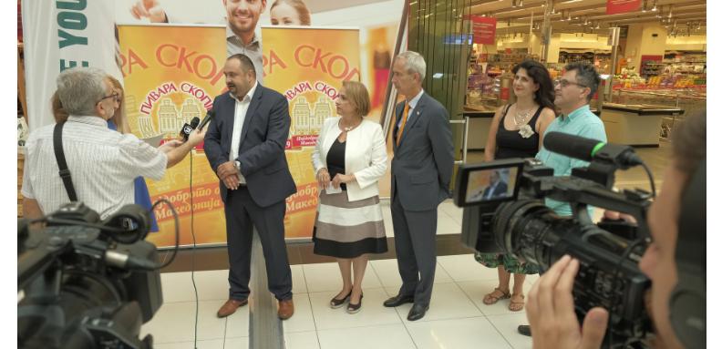 eko torbi eko-akcija na Pivara Skopje, Pakomak i Holandska ambasada